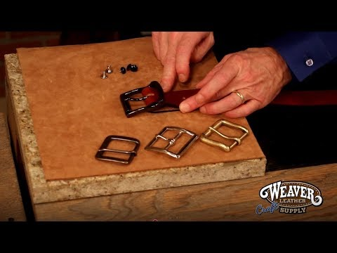 Adding a Buckle to a Belt Blank