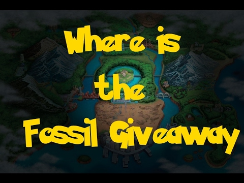 Where Is: The Fossil Giveaway (Gift Pokemon) (Pokemon Black 2/White 2)