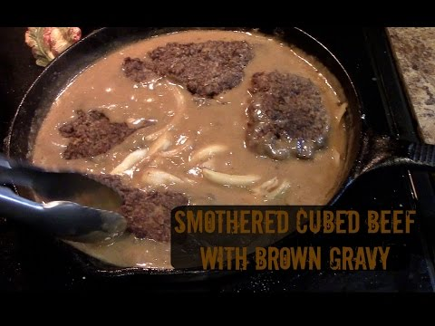 Smothered Cubed Steak with Gravy