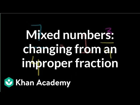 Mixed numbers: changing from an improper fraction | Fractions | Pre-Algebra | Khan Academy