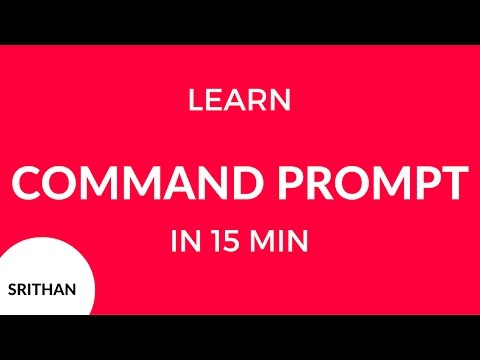 Learn command prompt in 15 minutes