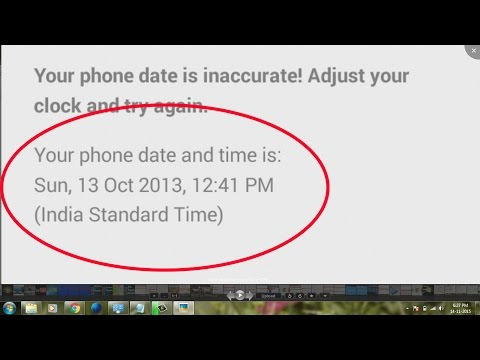 how to fix whatsapp error android-fix my whatsapp error-phone date is inaccurate!