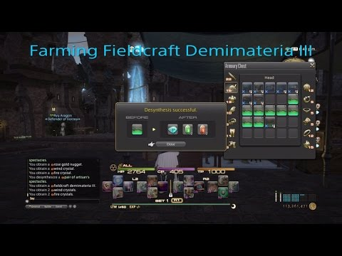 Farming fieldcraft Demimateria III's no gil required