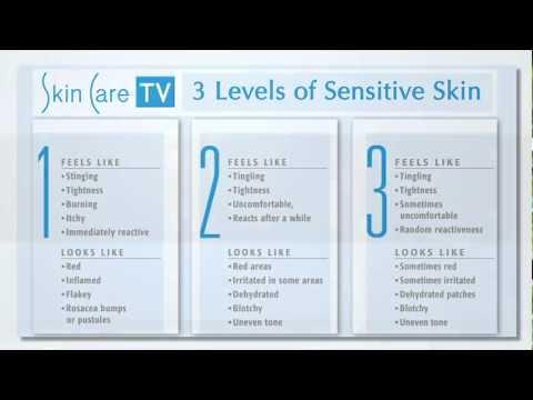 3 Levels of Sensitive Skin