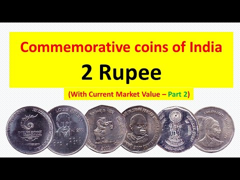 Commemorative coins of India with current market value - 2 Rupee - Part 2