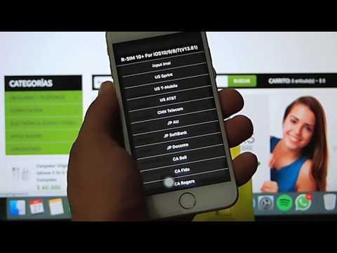 Desbloqueo Unlock R sim 10 +  iPhone  6s+, 6s, 6+, 6, 5s AT&T verizon tmobile unlocked 3G