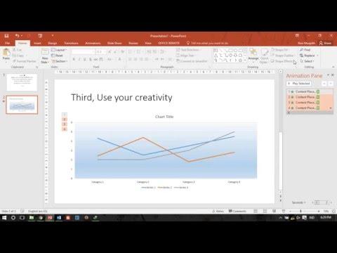 PowerPoint Tutorial: How to make Line Chart Animation (Cara Membuat animasi diagram garis)