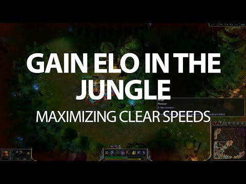 One Simple Tip for Junglers to Gain Elo - Clear Speeds   LoL