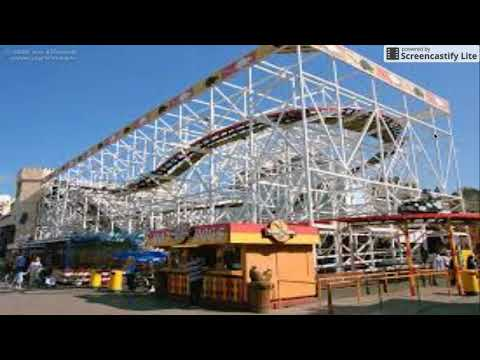 Blackpool Pleasure Beach Removing their Wooden Wild Mouse
