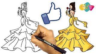 #x202b;تعليم رسوم للاطفال الصغار | كيف ترسم فستان || رسم فساتين#x202c;lrm;