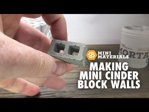 Mini Materials Cinder Block Building Guide