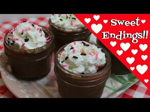 Chocolate Pots Du Creme ~ Rich French Chocolate Valentine Dessert ~ No Bake ~ Noreen's Kitchen