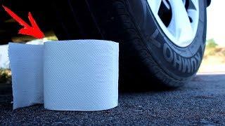 EXPERIMENT: CAR VS TOILET PAPER