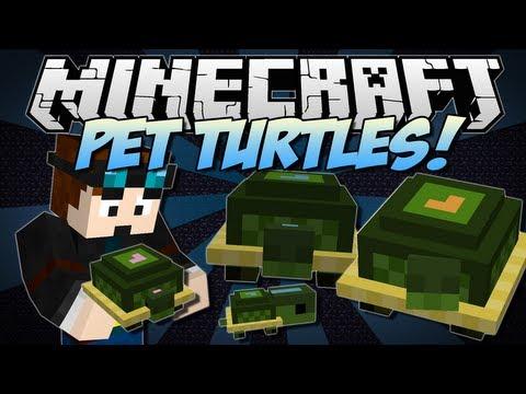 Minecraft | PET TURTLES! (Cute, Useful Little Companions!) | Mini Mod Showcase [1.6.2]