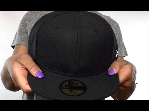 New Era 'DIAMOND TECH 59FIFTY-BLANK' Black Fitted Hat
