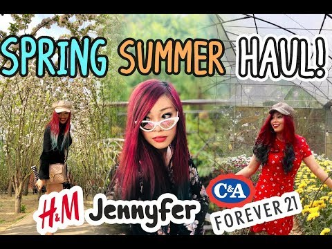 SPRING + SUMMER TRY ON HAUL // FOREVER 21, H&M, CACHE CACHE, JENNYFER & C&A ♡