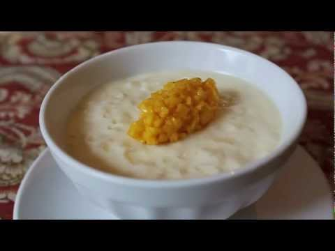 Rice Pudding Recipe - Coconut Milk Rice Pudding with Mango