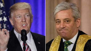 Tory MPs line up to criticise John Bercow over Donald Trump attack
