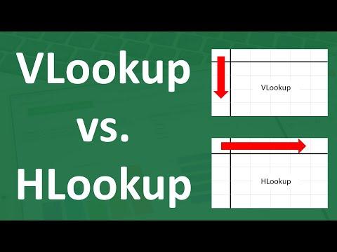 Difference Between Vlookup vs. Hlookup | Excel Formulas