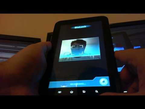 BioLock Biometric Security running on Samsung Galaxy Tab
