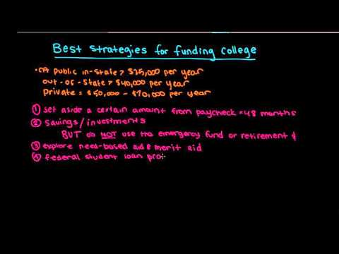 Best strategies for funding college