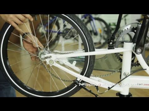 How to Remove and Replace a Rear Wheel on Your DAHON Folding Bike - Single Speed & Hub Gear Bikes