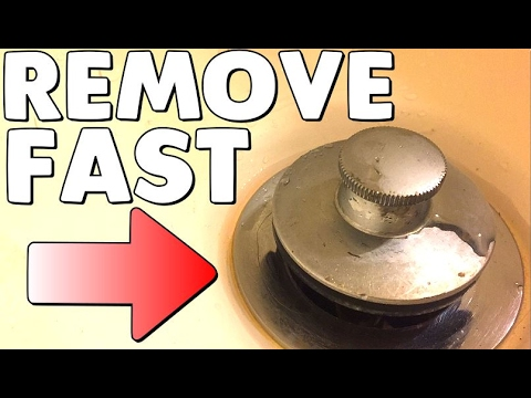 How to Remove a Pop Up Bathtub Drain Plug Stopper | No Screws or Tools Needed
