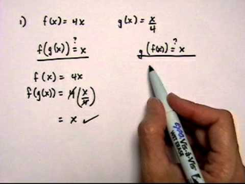 inverse functions 1 - determine whether two functions are inverses - robichaud.mov
