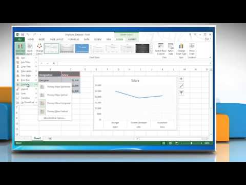 How to show & hide Gridlines in Line Graphs in Excel 2013