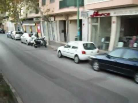 Train from Soller entering Palma City Mallorca Majorca Spain 2012