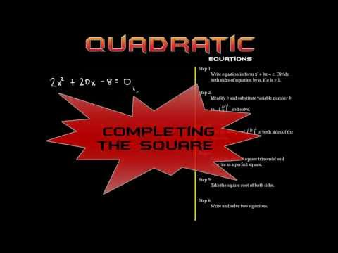 Solving Quadratic Equations By Completing The Square: Made Simple! 1.2
