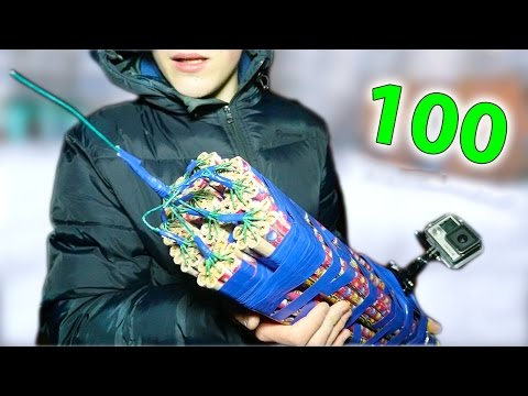 2500 FireBalls At The Same Time | 100 roman candle`s