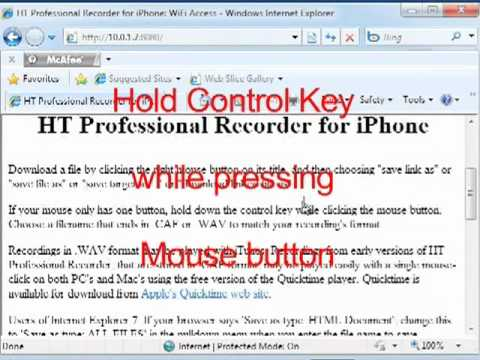 HT Professional Recorder: Transfer recordings from iPhone to a Windows PC