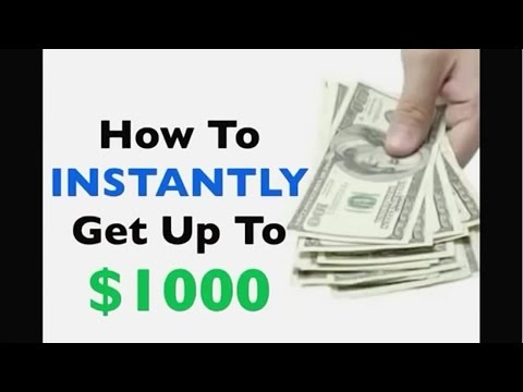 How To INSTANTLY Get Up To $1000 - Get Payday Loans Online