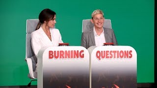 Victoria Beckham Answers Ellen's Extra Spicy 'Burning Questions'