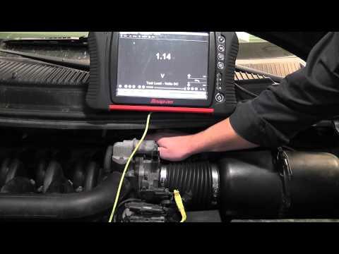 Throttle Position Sensor Test (voltmeter and scope)