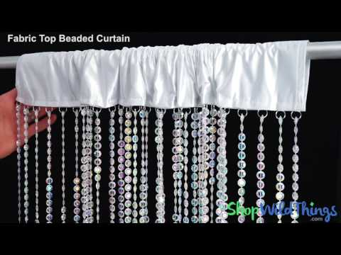 Fabric Top Beaded Curtains - ShopWildThings
