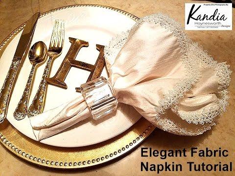 DIY: Elegant Fabric Napkin
