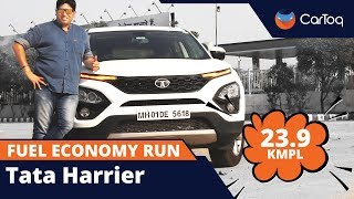 Tata Harrier fuel economy run : we got 23.9 kmpl : WATCH it here