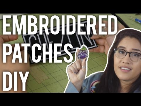 How to Make Custom Embroidered Patches : DIY - Giveaway closed!