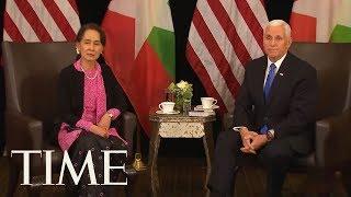 Vice President Mike Pence Meets Myanmar Leader Aung San Suu Kyi, Talks About Rohingya | TIME