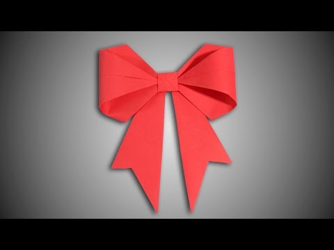 DIY Origami Paper Bow/Ribbon - How To Make It Easily.