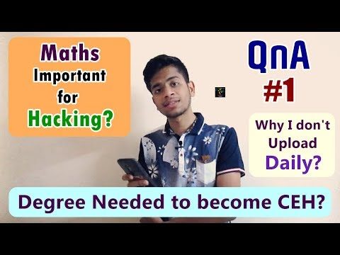 [HINDI] Is Maths Important For an Ethical Hacker? | Degree Needed to Become a Hacker | QnA #1