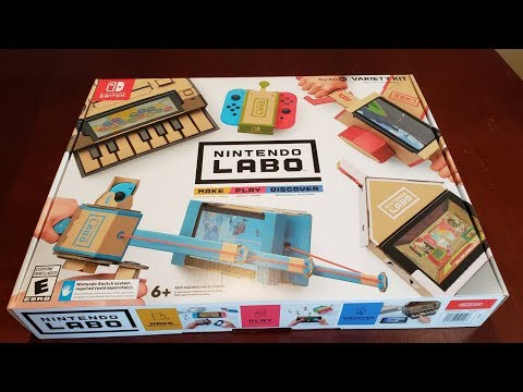 Unboxing the Nintendo Labo VARIETY KIT! (for Nintendo Switch)