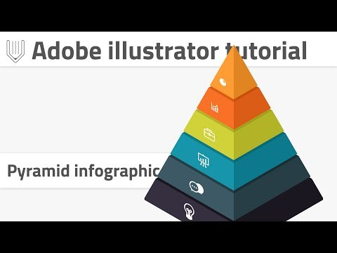 How to create pyramid infographics in Adobe illustrator. Create 3d object with 2d transformations