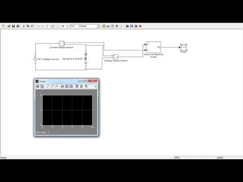 Power Voltage and Current Measurement using Simulink/Matlab