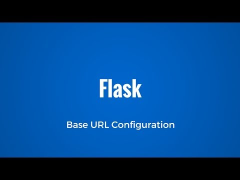 Configuring the Server Name in Flask (Base URL for App)
