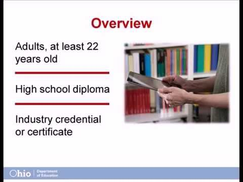 ODE: Adult Diploma Program Overview and Q/A Session (11/14/14)