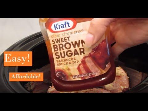 Crockpot Barbecue Chicken Meal | Easy Crockpot Recipe