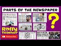 Parts of a NEWSPAPER -  / Perfect for Kids! /